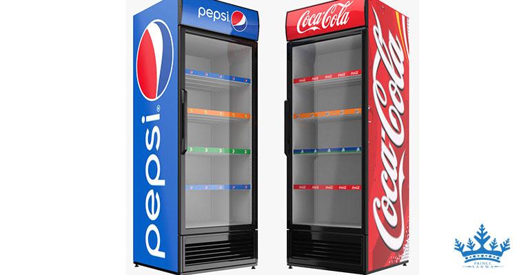 یخچال ایستاده با طرح پپسی و کوکاکولا